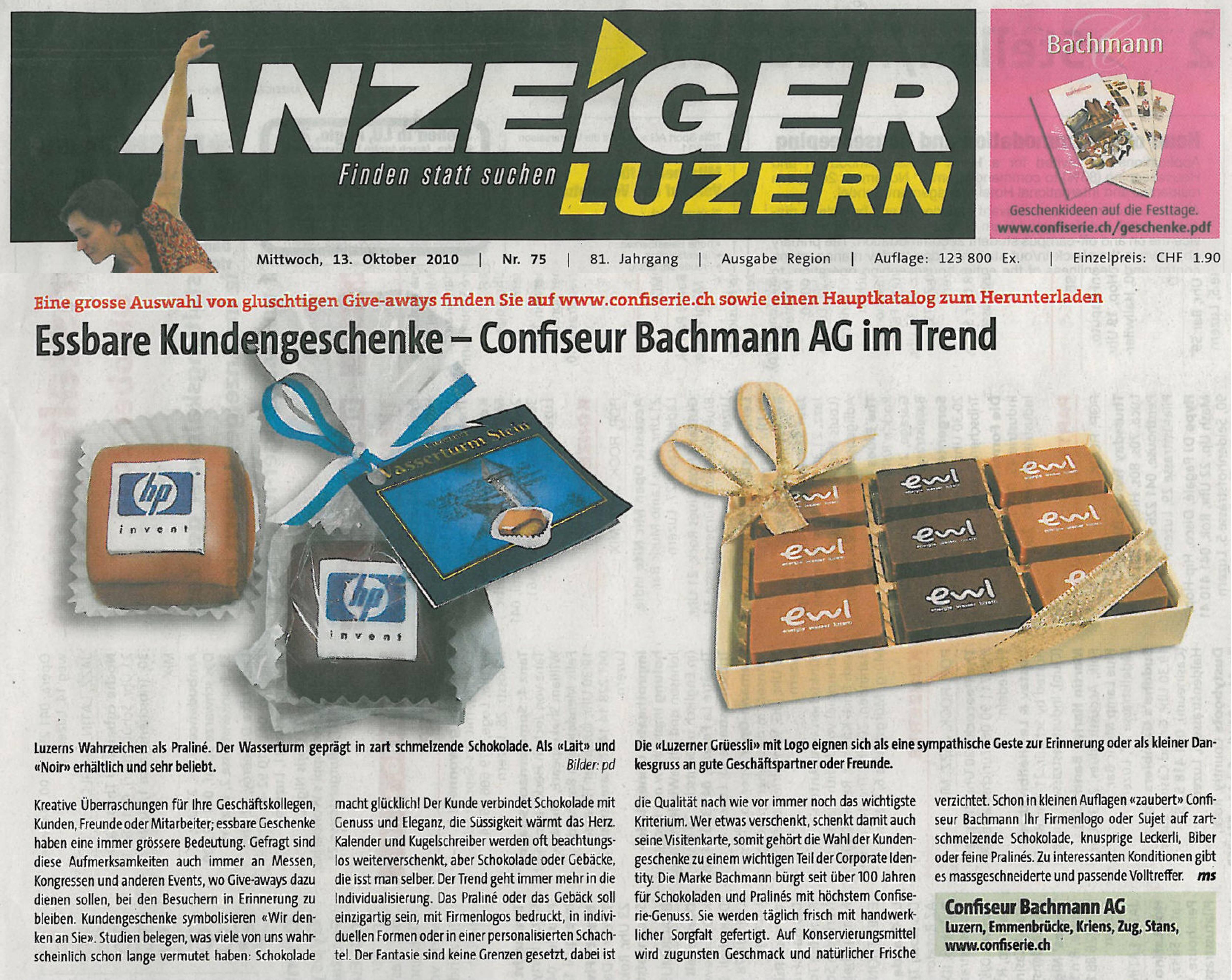 weihnacht confiserie bachmann presse medien berichte. Black Bedroom Furniture Sets. Home Design Ideas
