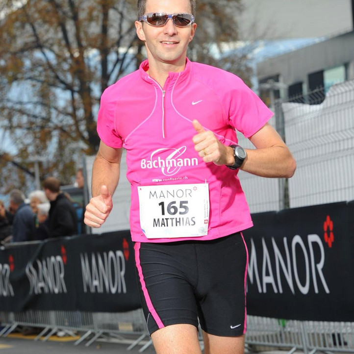 Matthias Bachmann at KKL Lucerne at the Swiss City Marathon in Lucerne