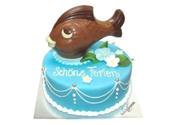 Color-Torte mit Schoggifigur