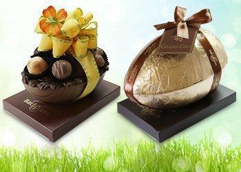 Praline-Eier und Dosen