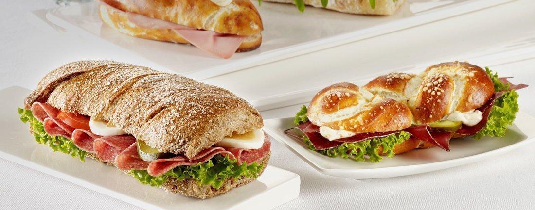 Sandwich, Brot, Salat...