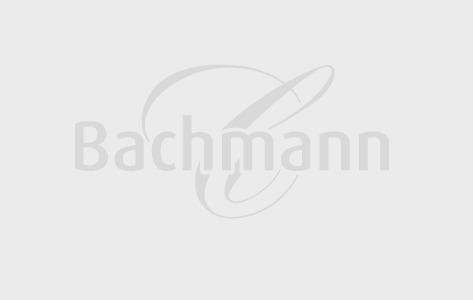 Osterhase Hoppeli mit Logo | Confiserie Bachmann Luzern