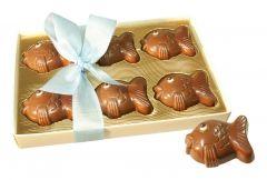 Fische aus Schokolade 6er