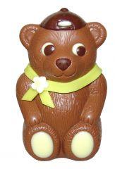 Bär mit Schal aus Schokolade