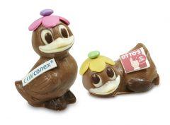 Schokoladen Ente mit Logo