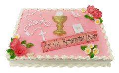 Kommunion Torte rosa