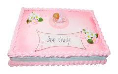 Baptism Cake Baby Pink