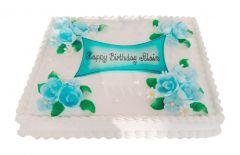 Torte Birthday blaue Rosen