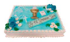 Kommunion Torte blau