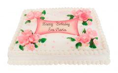 Torte pink Birthday Rosen