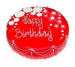 Cake Birthday Red