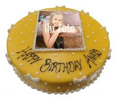 Children's birthday cake with photo