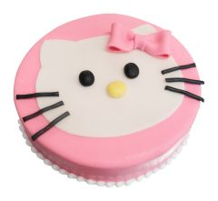 Kindergeburtstagstorte Hello Kitty rosarot