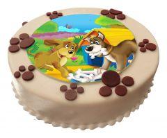 Color-Torte rund Paw