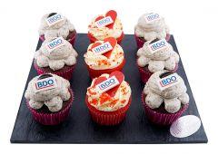 Cupcakes 9er mit Logo