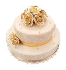 Duo-Torte goldene Rosen