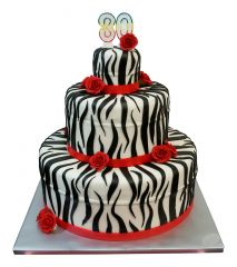 English Birthday Cake Zebra