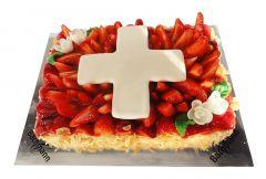Erdbeertorte Schweizer Kreuz