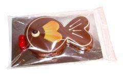Fisch aus Gianduja Schokolade
