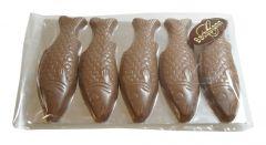 Fisch aus Schokolade 5er