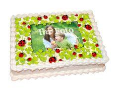 Photo Cake Lucky Clover
