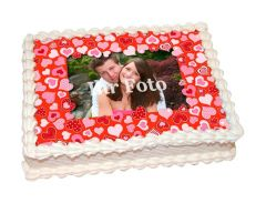 Photo Cake Little Hearts