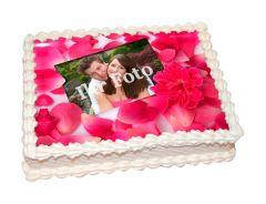 Photo Cake Rose Petals
