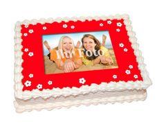 Photo Cake Red