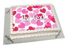 Photo Cake Hearts