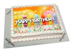 Photo Cake Birthday Candles