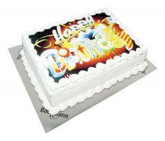 Fototorte Happy Birthday