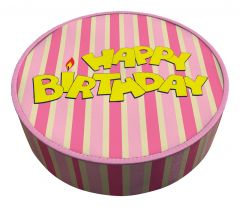 Shipping Cake Birthday Striped