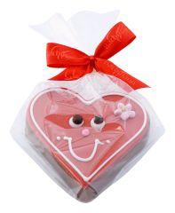 Gianduja-Herz mit Gesicht