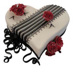 Heart Cake Red Roses