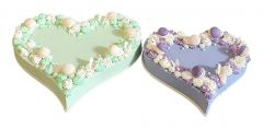 Wedding Cake Heart Duo Modern