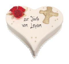 Baptism Cake Heart