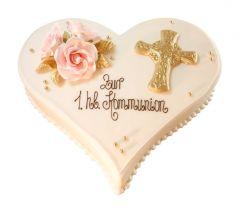 Kommunion Torte Kreuz klein