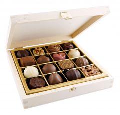 16pc. Wooden Praline Box