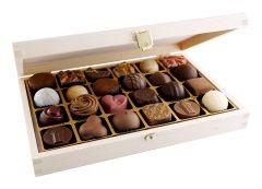 24pc. Wooden Praline Box