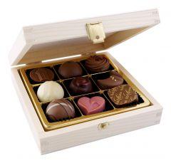9pc. Wooden Praline Box