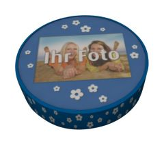 Shipping Cake Your Photo Blue