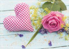 Geschenkkarte Rose