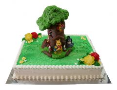 Kindergeburtstagstorte Winnie Pooh Baum