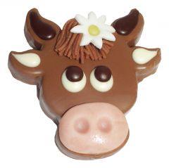 Kuh aus Gianduja Schokolade
