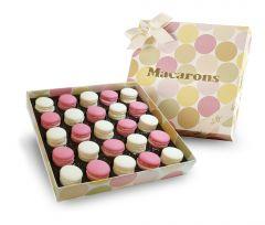 Macaron Vanille-Himbeer