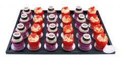 Mini Cupcakes Platte 24er