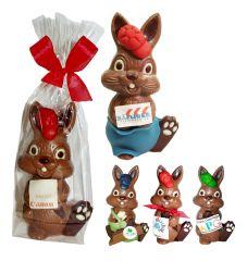 Osterhase Bunny mit Mütze und Logo