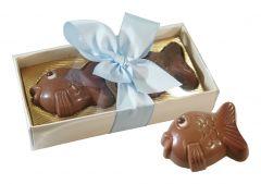 Fische aus Schokolade 2er