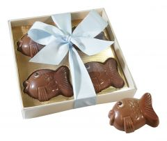 Fische aus Schokolade 4er