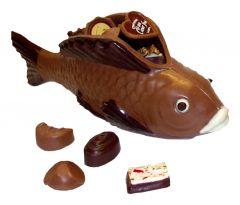 Schokoladen Fisch gefüllt mit Pralinés gross